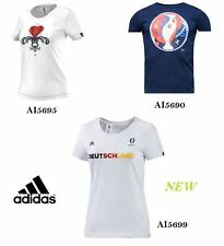 Donna T-shirt Adidas Graphic Euro 2016 Cotone Offerta SPORT PALESTRA CASUAL