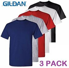 3 Pack Plain Blank Gildan 100% Heavy Cotton T-shirt Tshirt Multi Colors in Stock