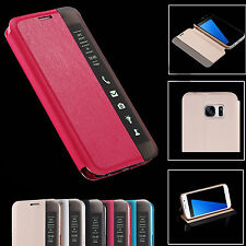 S6 / S7 Edge & Plus Smart Touch Edge View PU Leather Case For Samsung Galaxy Pho