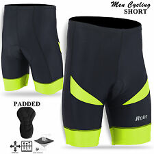 Mens Cycling Shorts Padded MTB 3D Anti-Bac Bicycle Pant Shorts - Hi Viz