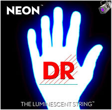 DR Strings HiDef Neon White 5-String Bass
