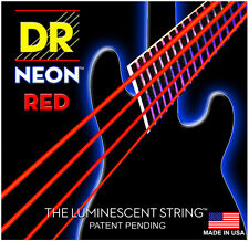 DR Strings HiDef Neon Red 5-String Bass