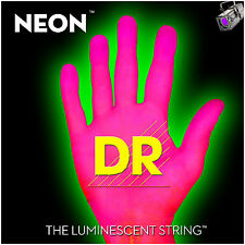 DR Strings HiDef Neon Pink 5-String Bass