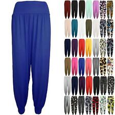New Womens Harem Baggy Ladies Plain Ali Baba Full Length Leggings Trousers Pants