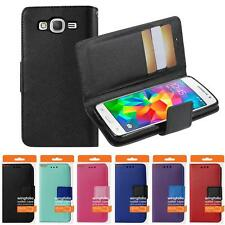 For Samsung Galaxy Grand Prime G530 Leather Wallet Pouch ID Slot Box Case Cover
