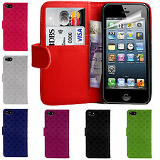 3D Leather Wallet Book Case Cover Pocket for Card & Money For Apple iPhone 5/5s