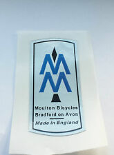 MOULTON BIKE HEAD TUBE self adhesive sticker/decal ( BoA, Nottingham, Mk3)