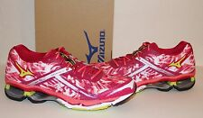 New MIZUNO Wave Creation 15 Women's Running Shoes Cerise/Lime Punch/Coral NIB