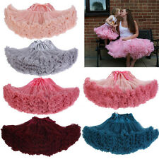 B325 2016 donna ragazze adolescenti adulti gonna in chiffon 15 colori pettiskirt