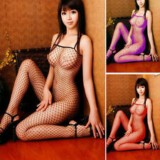 H879 donne sexy pizzo collo Fishnet Body Stocking lingerie sexy corpo sexy netto