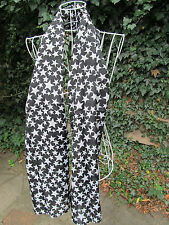 BLACK, WHITE STARS or SKULL PRINT FASHION LADIES SCARF 150cm x 50cm UK SELLER