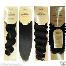 Brazilian PERUVIAN Human Hair 100% Remy Hair Extension Weave Unprocessed 105g