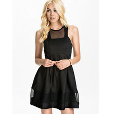 Ginger Fizz ASOS Just A Peek Party Skater Dress Black GF31019 Size S
