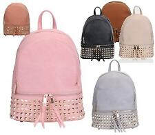 LADIES RUCKSACK STUDDED SCHOOL COLLEGE FESTIVAL SHOULDER BACKPACK