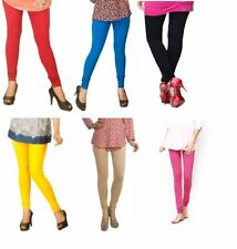 Women Churidar 100% Cotton Legging Combo Pack of 6 Vibrant Colour-Size Available