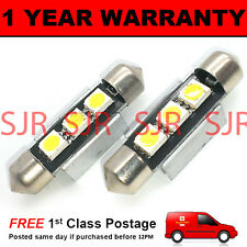 2X BLUE CANBUS NUMBER PLATE INTERIOR SMD LED BULBS 30 36 39 42 44MM FESTOON OB