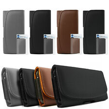 Premium PU Leather Horizontal Belt Pouch Holster Case For LG Optimus LU6200 LTE