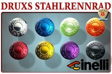 CINELLI LENKERSTOPFEN ELOXIERT ANODIZED HANDLE BAR END PLUGS RENNRAD ROADBIKE