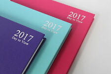 2017 A5 OR A4 DAY A PAGE DIARY PLANNER. HARDBACK CASEBOUND PINK MAUVE LIGHT BLUE