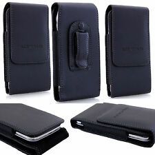 Leather PU Elastic Belt Pouch Holster Holder Clip Case Cover for Mobile Phone