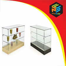 GLASS SHOWCASE LOCKABLE DISPLAY COUNTER CABINETS HIGH QUALITY