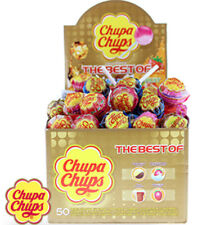 Chupa Chups Lollipops Sweet Candy The Best Case of 25 or 50 Strawberry Cola