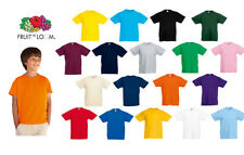 3er Pack Fruit of The Loom 61003 Kinder Valueweight T-Shirt