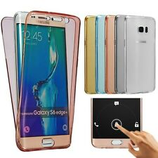 ETUI COQUE HOUSSE FULL PROTECTION SILICONE POUR SAMSUNG AU CHOIX + STYLET + FILM