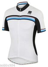 Mens Sportful Bodyfit Pro Aero Cycling Bike Jersey Short Sleeve White Large  NEW