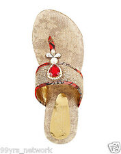 Siendo Desi Wedding Bliss Platforms Red Slip-On