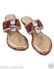 Siendo Desi Rainbow Wedges Multi Slip-On