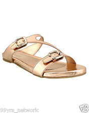 Siendo Desi Veero Flats Rose Gold Slip-On