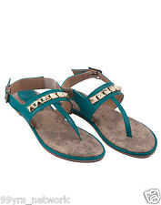 Siendo Desi Regal Pyramid Flats Green Sandal