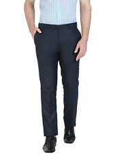 Oxemberg Slim Fit Men's Blue Formal Trouser
