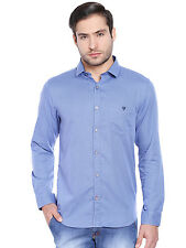 J.Hampstead Men's Printed Sports 100% Cotton Blue Shirt_JSPL1023F_BLUE