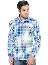 Oxemberg Men's Checkered Casual 100% Cotton Green Shirt_MSL2325F_GREEN