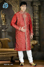 MEN INDIAN DESIGNER KURTA SHERWANI 2pc SUIT