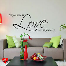 All you need is Love lyrics by The Beatles wall art sticker