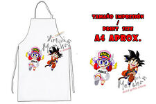 DELANTAL ARALE Y GOKU DRAGON BALL APRON tablier grembiule es