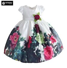 Vestito Bambina Cerimonia Girl Rose Summer Flower Special Occasion Dress DGZF013
