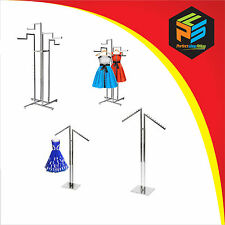 HEAVY DUTY CHROME RETAIL CLOTHING/GARMENT DISPLAY STANDS FOR SHOPS