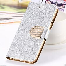 Fashion Luxury Bling Glitter Wallet Flip Leather Case Cover For iPhone 6 6s