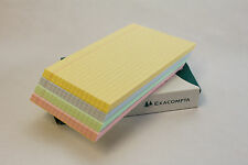 100 LINED SINGLE OR ASSORTED REVISION INDEX FLASH CARDS IN 5 x 3, 6 x 4 OR 8 x 5