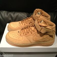 NIKE AIR FORCE 1 ONE MID WHEAT FLAX QS SIZE UK 6.5 7.5 8 10.5 12 LIMITED EDITION