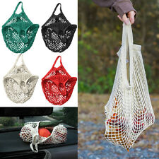 Mesh Cotton String ECO SHOPPING Grocery Bag Reusable Fruit Storage Handbag Tote