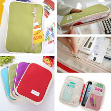 New Travel Bag Money Passport Ticket Card Document Holder Wallet Case 4 Colors