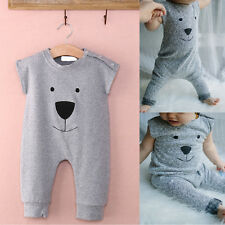 Cute Sleeveless Newborn Baby Bear Jumpsuit Romper Playsuit Kids Cloth
