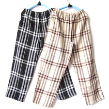 Men's Elastic Waist Gingham Loose Loungewear Pajama Bottoms Sleepwear Pants