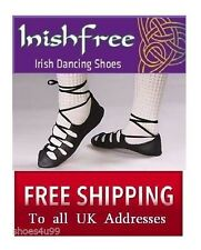 NEW IRISH DANCING POMPS SOFT SHOES SIZES 11 12 13 1 + MORE INISHFREE DANCE PUMPS