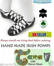 IRISH DANCING POMPS LEATHER PUMPS SOFT SHOES TARA BLACK SUEDE SOLE CUSHIONED